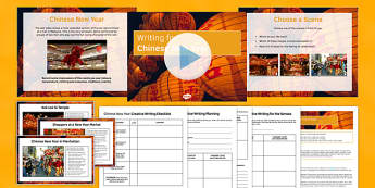 Chinese New Year Writing Prompts Pack - Chinese New Year, Creative Writing, Prompts, Reading Comprehension, KS 3, KS2 writing, celebrations, fireworks