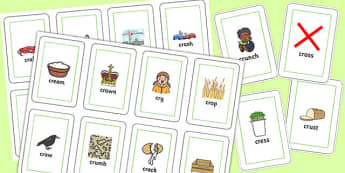 CR Flash Cards - sen, sound, special educational needs, cr, flash cards
