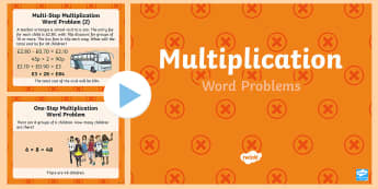 KS2 Multiplication Word Problems  PowerPoint - KS2, Maths, Solve problems, including missing number problems, involving multiplication and division