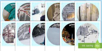 Winter Display Photo Cut-Outs English/Mandarin Chinese - Winter Display Photo Cut Outs - winter, photo, cut outs, display, winterdisplay, wnter, wintre, EAL