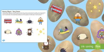 Nursery Rhyme Story Stones - stories, pebbles, poem