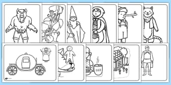 Fairy Tale Themed Coloring Sheets - traditional tales, colouring sheets, colouring, colouring worksheet, themed colouring sheet, themed worksheet