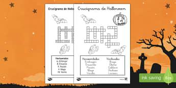 Halloween Crossword - halloween, activity, sheet, worksheet, spellings, key, vocabulary