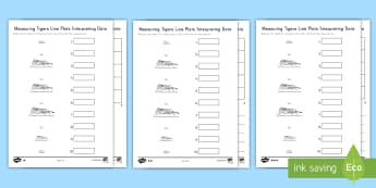 Measuring Tigers Line Plot Interpreting Data Differentiated Activity Sheets - measurement, range, mode, median, graphing, line plot, fourth grade, fifth grade