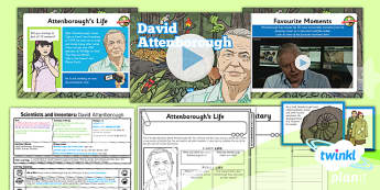 PlanIt - Science Year 5 - Scientists and Inventors Lesson 1: David Attenborough Lesson Pack - David Attenborough, wildlife, animals, living things, habitats, documentary, naturalist