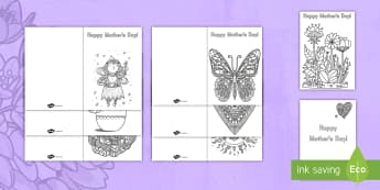 Mother's Day Mindfulness Coloring Cards - mother's day, cards, coloring, art, creativity, gift