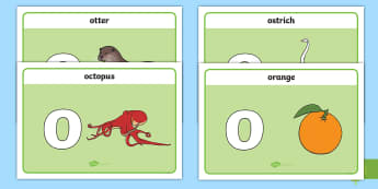 Initial O Sound Playdough Mats - Initial O Sound Playdough Mats - phonics, letters and sounds, phonemes, phase 2, EYFS, phonems, phin