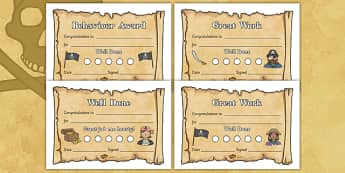 Pirate Sticker Reward Certificates (15mm) - Pirate Reward Certificate (15mm), pirate, reward certificate, certificate, reward, 15mm, 15 mm, stickers, twinkl stickers, award, certificate, well done, behaviour management, behaviour, pirate, pirates, sh
