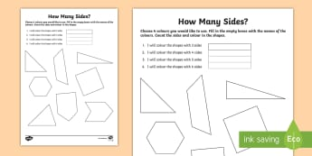 2D Shapes Numeracy Choose Your Own Colouring Page - NI KS1 Numeracy, 2D shapes, colours, homework, home learning, starter, plenary, assess learning, wor