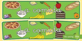 La comida Pancarta-Spanish
