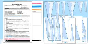 Polar Icicle Size Comparison EYFS Adult Input Plan and Resource Pack - EYFS, planning, early years, winter, arctic, measuring, comparing size, ssm, mathematics