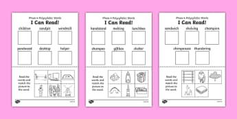 I Can Read Phase 4 Polysyllabic Words Activity Sheet - read, word, worksheet