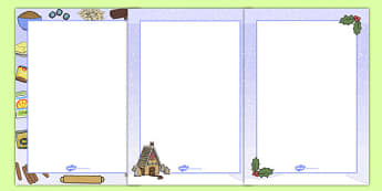 Gingerbread House Recipe Instructions Page Borders - page borders