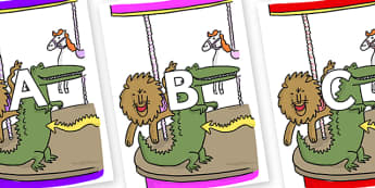 A-Z Alphabet on Trick 3 to Support Teaching on The Enormous Crocodile - A-Z, A4, display, Alphabet frieze, Display letters, Letter posters, A-Z letters, Alphabet flashcards
