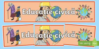 Educație civică CCD Romanian