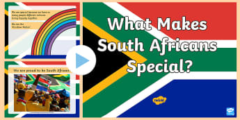 What Makes South Africans Special? PowerPoint - heritage day, being special, rights, unique, constitution,