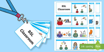 BSL Classroom Lanyard Cut-Outs  - BSL Resources, British Sign Language, Sign Support, Deaf Awareness, Sensory Impairment, Hearing Impa