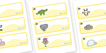 Busy Bee Themed Editable Drawer-Peg-Name Labels - Themed Classroom Label Templates, Resource Labels, Name Labels, Editable Labels, Drawer Labels, Coat Peg Labels, Peg Label, KS1 Labels, Foundation Labels, Foundation Stage Labels, Teaching Labels