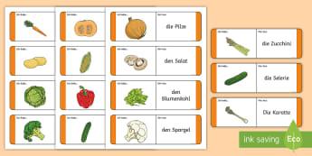 Vegetables Loop Cards German - Food, Vegetables, German, DAF,DAZ, Gemüse