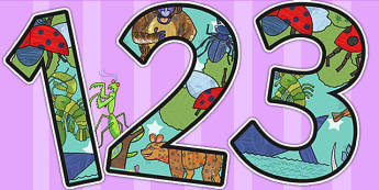 Themed A4 Display Numbers to Support Teaching on The Bad Tempered Ladybird - numbers