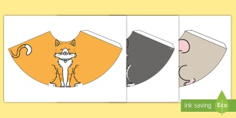 Pet Cone Characters Pack - Pets, cat, dogs, rabbits, budgie, guinea pig, hamster, snake, paper craft