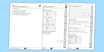 Year 6 Maths Assessment Term 2 Algebra - year 6, maths, assessment, term 2, algebra