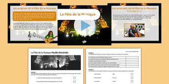 La Fête de la Musique Information PowerPoint - French