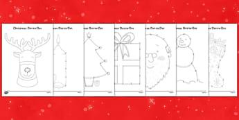 Christmas Dot to Dots - christmas, dot to dot, game, activity, festival, celebration, holiday