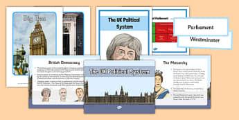 The UK Political System Pack - political system, political, system, pack