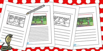 The Story of Chinese New Year Story Writing Frames - chinese