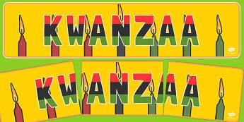 Kwanzaa Display Banner - usa, us, america, kwanzaa, display banner, display, banner