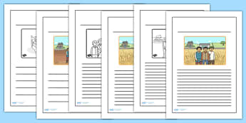 The Farmer and His Sons Story Writing Frames - writing template