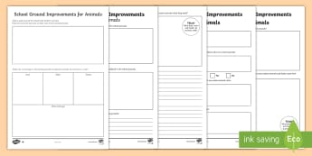School Ground Improvements For Animals Differentiated Activity Sheets - worksheets, ACSHE022, caring for environment, Science as a Human Endeavour, habitat, native animals,