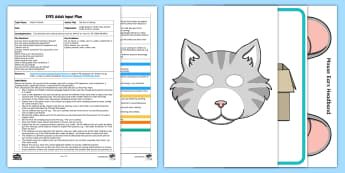 EYFS The Cat is Coming Adult Input Plan and Resource Pack - EYFS Can Describe Their Relative Position... , Can describe their relative position such as 'behind