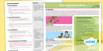 PlanIt - Geography KS1 - What a Wonderful World Planning Overview