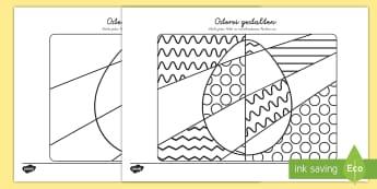 Osterei gestalten Aktivität-German - Osterei gestalten Aktivität, Osterei, Ostern, Osterhase, Osterei gestalten, Symmetrie, Symmetrische