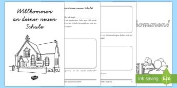 Willkommen an deiner neuen Schule Mini Buch - Transition, Übergang, neues Schuljahr, Schuljahresanfang, Schuljahresbeginn,,German