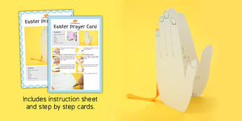 Easter Prayer Card Craft Instructions - easter, card, craft