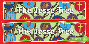 The Jesse Tree Display Banner-Irish