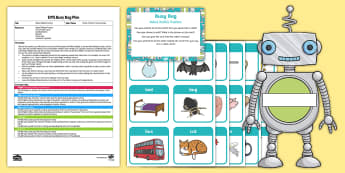 EYFS Robot Robbie Posting Busy Bag Plan and Resource Pack - Phase 1, Aspect 6, Voice Sounds, letters and sounds, phonics, speaking, speech,