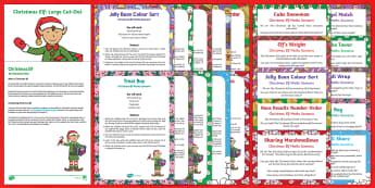 EYFS Christmas Elf Maths Scenarios Resource Pack
