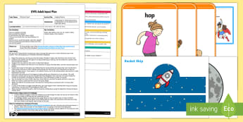 EYFS Hopping Planets Adult Input Plan and Resource Pack to Support Teaching on Whatever Next!