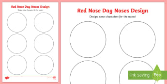 Red Nose Day Noses Design Activity Sheet - red nose day, comic relief, art, design, create, creative,