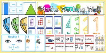 EYFS Maths Working Wall Display Pack