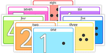 Basic 1-10 Number Playdough Mats - counting playdough mats, number playdough mats, counting to 10 playdough mats, play doh mats, sen playdough mats, simple