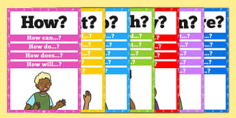 Question Words Poster Pack - displays, display, questions