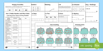Year 2 Maths Place Value and Number Activity Booklet - Learning from Home Activity Booklets, maths, place value, number, parents, help, support, home learn