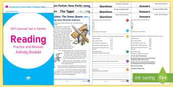 SATs Survival: Year 6 Parent\' Reading Practice and Revision Activity Pack - SATs Survival Materials Year 6, SATs, assessment, 2017, English, SPaG, GPS, grammar, punctuation, sp