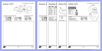 Student Led Practice Sheet Budget at Home Money Problems GCSE Grades 1-2 - KS3, KS4, GCSE, Maths, Finance, Budget, Home, independent learning, growth mindset, practise, assessment