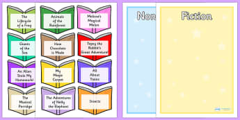 Non Fiction and Fiction Book Titles Sorting Activity - game, activity, fun, fiction, non fiction, non-fiction, the different between fiction and non fiction, reading, genres, book genres, reading genres, reading areas, fun activity, fun game, learnin